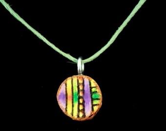 wood necklace handmade, unique,birch wood, hemp cord, original design, rustic, modern, retro