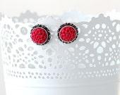 Dahlia Flower Earrings - Bridesmaids Flower Earrings - Flower Studs - Hypoallergenic Earrings - Silver Post Earrings - Romantic Gift for Her