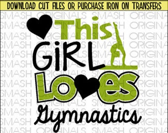 This Girl Loves Gymnastics Iron on Decal Vinyl