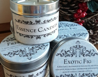 Essence Candles scented soy wax candle tin