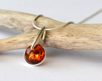 Amber Necklace - Amber Pendant, Amber Jewelry, Natural Amber Pendant, Amber Gift Jewelry