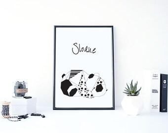 Poster to customize PANDA + frame