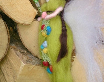 Wool Felt Fairy Blossum.  Fairy doll