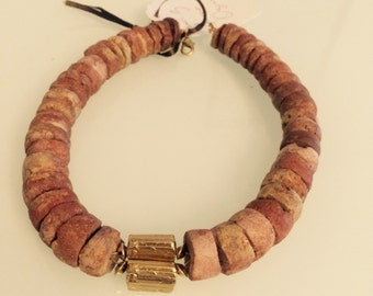 Bauxite Bead Necklace. One of a kind.