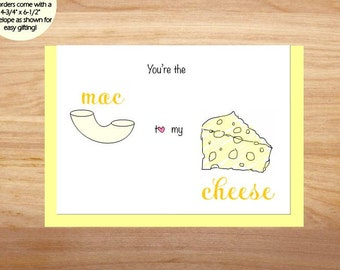 You're the Mac to My Cheese - Love Card, Anniversary Card, Cute Card, For Boyfriend, For Girlfriend, Friend Card