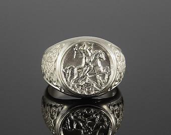 Statement ring, Men statement ring, Man ring silver, Signet ring, Man signet ring, Silver signet ring, Ring for him silver, Gift for husband