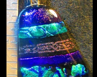 Multi 2 Fused Dichroic Glass Pendant