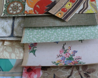 French Vintage Wallpaper for Crafting and Projects. Lovely Selection of Patterns from 1920-1950.