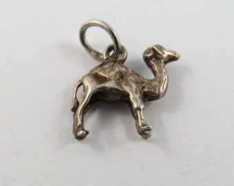 Dromedary Camel  Sterling Silver Charm or Pendant.