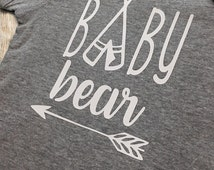 Baby Bear onesie | Bodysuit | Baby Gift | Baby Shower | Gender Neutral | Tribal | Arrow | going home | hospital | new baby | bear family