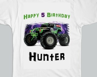 Monster Jam Grave Digger Personalized Birthday T-SHIRT
