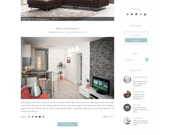 Minimalist Responsive Blogger Template - Modern Fashion Premade blogger Template - Clean Design - lifestyle blog - Blogspot