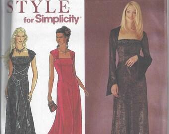 Simplicity 8839 Pattern to Make Long Gothic Dress, Sizes 8 - 18, Uncut
