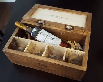 Personalized Scotch Whiskey Gift Box for Retirement