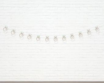 Diamond Ring Garland - Bridal and Wedding Shower Decor