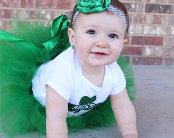 Green headband baby headband -  rolled silk flower headband - toddler headband