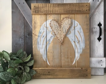 SHABBY CHIC WINGS, angel wings decor, angel symbolism, gold angel wing wall decor, distressed angel wings