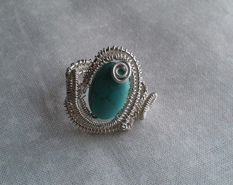 sterling silver ring, wire wrapped ring, handmade sterling silver ring , handmade jewelry