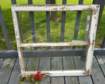 Vintage Wood Window, Two Pane, 2 Pane, Old Wood Window, Home Decor, Antique Window, Country Decor, Wedding Sign, Menu Board, Wood Sign 0169