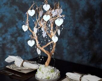 Sandblasted Manzanita Wedding Wishing Tree/Baby Blessing/Bridal Shower/Graduation/Birthday/Quinceanera/Anniversary/Sweet 16 Centerpiece