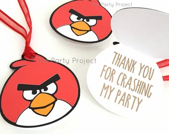 "12 Angry birds ""Thank You"" tags 