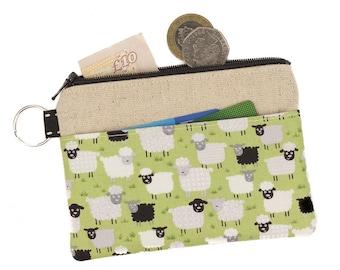 Sheep Zipper pouch,Coin purse,Card holder,Coin pouch,Zipped card pouch,Sheep,Cute,Pocket,Gift idea