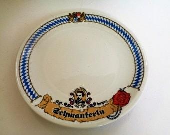 bavarian China Plate, Seltmann Weiden Bavaria, Konig Ludwig II plate, Decorative plate of Ludwig II, Konig von Bayern-Bavaria
