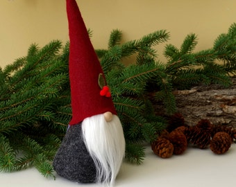 Holly Berry Nordic Gnome ~ Scandinavian Gnomes