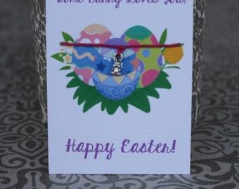 Easter Bunny Wish Bracelet~ Free Custom Card for Bulk Orders!
