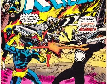 Uncanny X-men 97, Storm comic book, Xmen, Wolverine, Cyclops, Nightcrawler, Colossus, Charles Xavier. 1976 Marvel Comics in VF/NM (9.0)