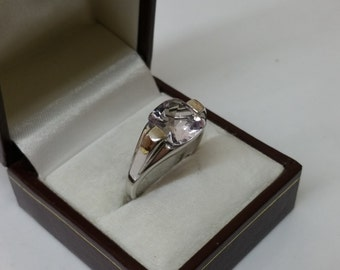Simple elegance SR646 ring 925 Silver with clear Crystal stone