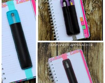 Pen Holder for Planners - 2 or 1 pocket