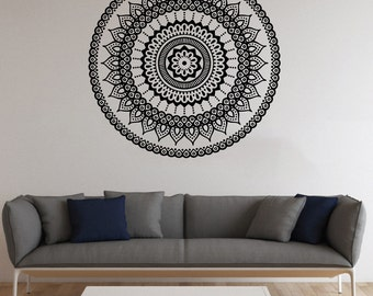 Mandala Symbol Vinyl Decal Mandala Wall Sticker Wall Decals Wall Vinyl Decor /9hys/