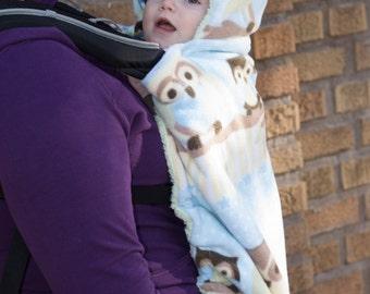 Owl Front Baby Carrier Fleece Cover