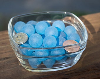Sea Glass Marbles  50 Aqua/Light blue