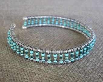 Green Resistor Cuff Bracelet