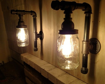 Pipe Fixtures Lighting (2) Restoration Hardware-Style Industrial