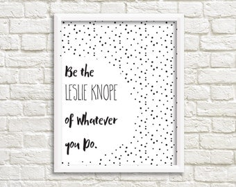 Printable Wall Art, Leslie Knope Print, Gallery Wall, Parks and Recreation Print, Printable Wall Decor, Printable, Gallery Wall Printable