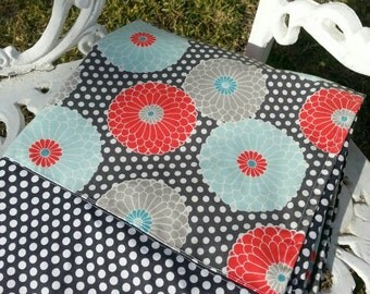 PERSONALIZED Polka Dot Flowers Golf Cart Cover
