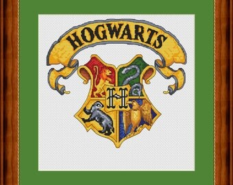Hogwarts crest - Cross stitch pattern PDF - Instant download