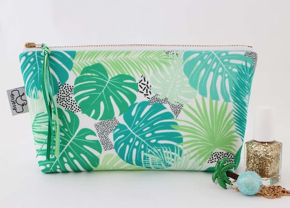 Trousse de toilette tropical//Imprimé exclusif ANJESYdesign.