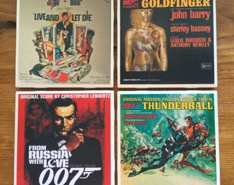 James Bond Movie Soundtrack Coasters