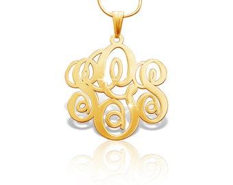 Gold Monagram Necklace Monogram Chain Gold Mongram Necklace Monogram Jewelry Christmas Gift Gold Monogrammed Necklace Gift For My Girlfriend