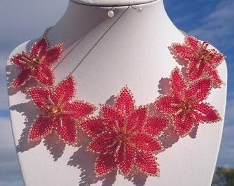 "Necklace ""orange lily"""
