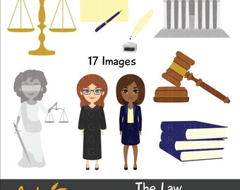 Law Clipart- Lawyer Judge Legal Clip Art Attorney Graphic Court Judicial Justice Jury Duty Printable Scrap Planner Sticker Courthouse School