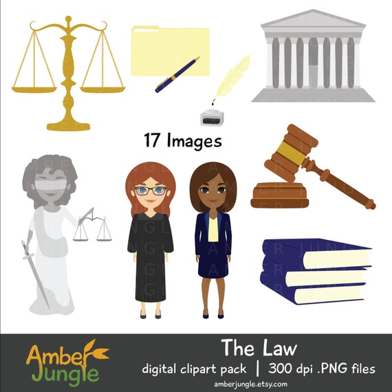 Law Clipart- Lawyer Judge Legal Clip Art Attorney Graphic Court ...