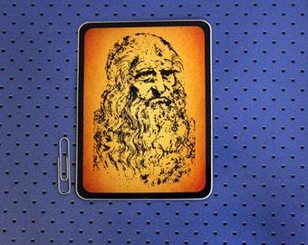 Leonardo Da Vinci Bumper Sticker