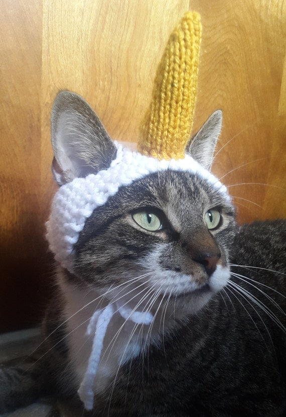 Unicorn Cat Hat Knit Hat For Cat