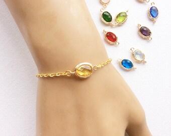 Birthstone bracelet, November birthstone,November birthday,Citrine birthstone, Bridesmaids gift, birthstone, Customizable Birthstone Pendant