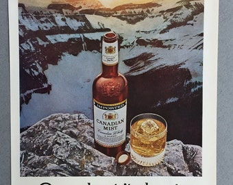 1976 Candian Mist Whisky Print Ad